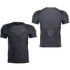 1Storm Men Lycra+EVA Anti-Collision Chest Protective Black Short Shirt/Pant for Football Baseball Basketball Bike Rugby Snowboard Ski Volleyball