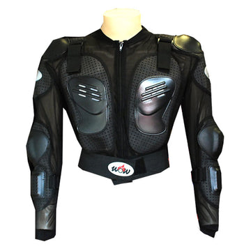 WOW Motorcycle Motocross Bike Guard Protecto Youth Kids Body Armor Black
