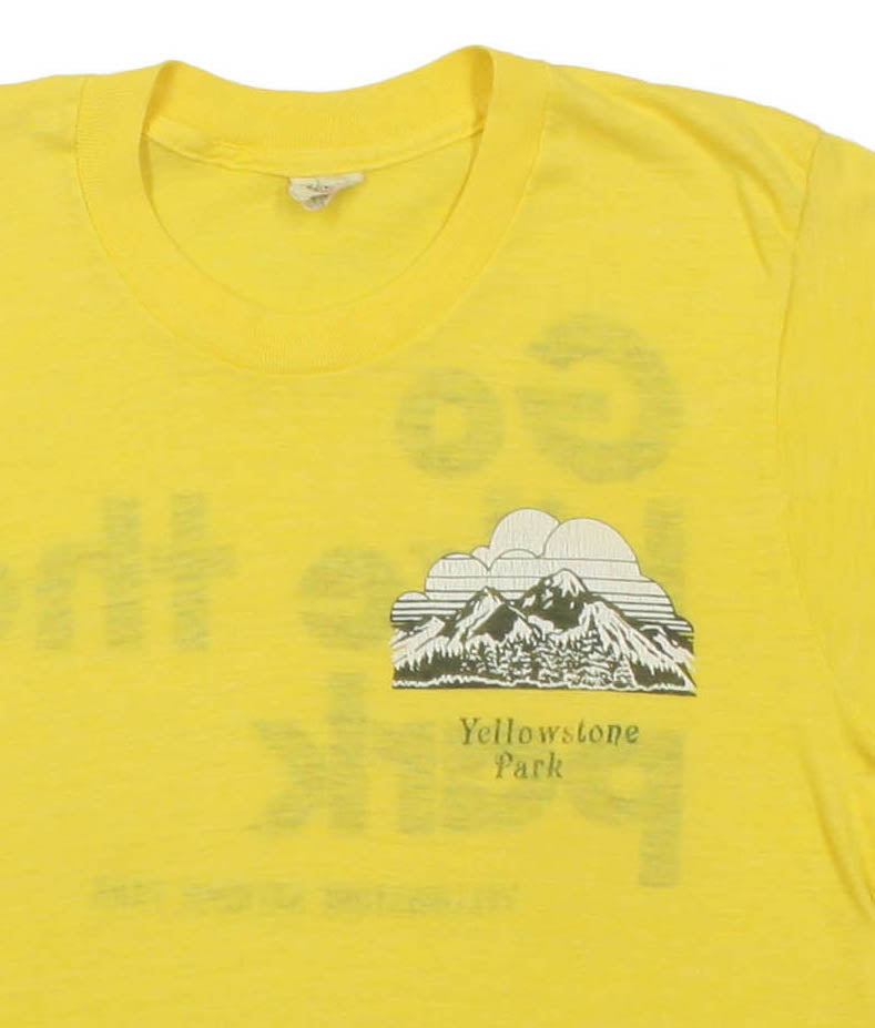 Vintage 1970s Yellowstone National Park 'Go Hike the Park' Tee
