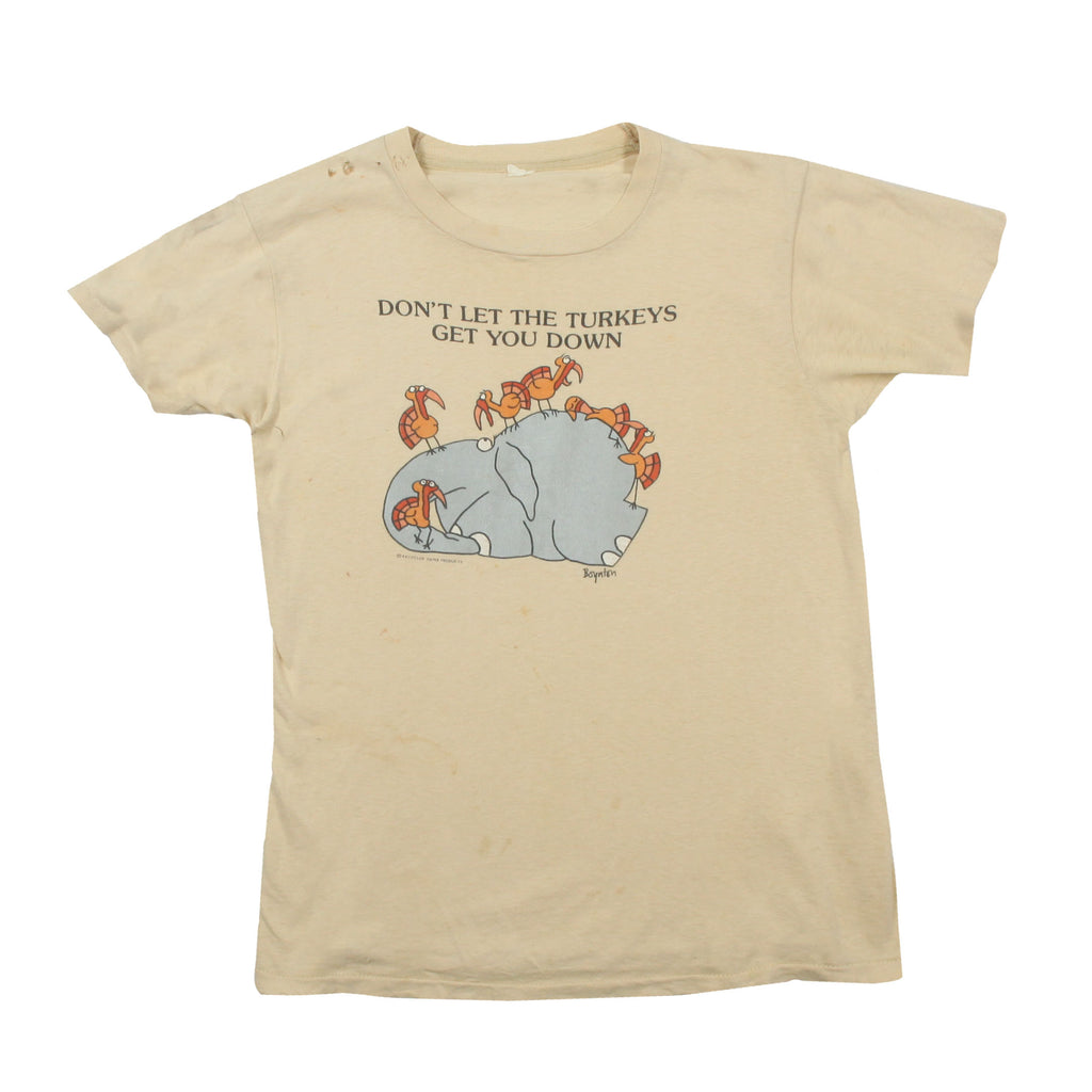 "Vintage 1980s Boynton ""Don't Let the Turkeys Get You Down"" Tee"