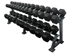 2 TIER RUBBER HEX DUMBBELL RACK - Garner Fitness Supplies