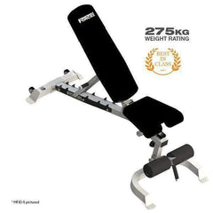 Force USA - Multi Flat / Incline / Decline Adjustable bench - Silver F-MFID-S - Garner Fitness Supplies
