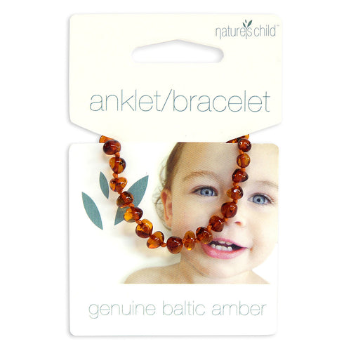 Amber teething anklet