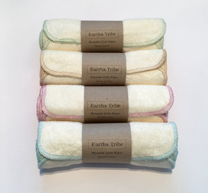 Reusable bamboo cotton baby wipes