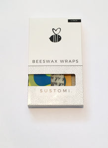 Beeswax wraps - 4 pack - mixed prints
