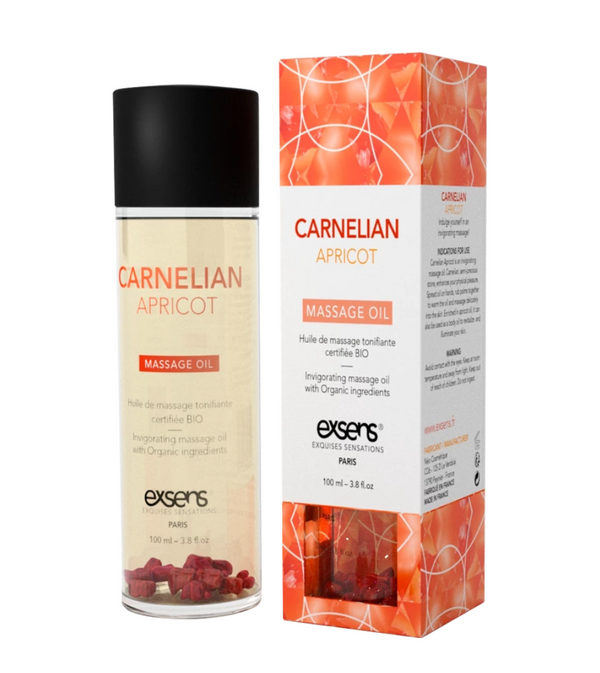 Crystal Massage Oil  Carnelian Apricot