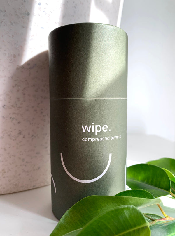 Wipe - hypoallergenic, compostable compressed towels