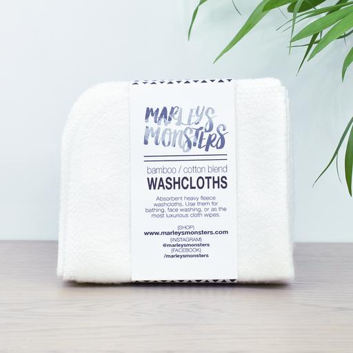 Bamboo and Organic Cotton Blend Ultra Gentle Wash Cloths