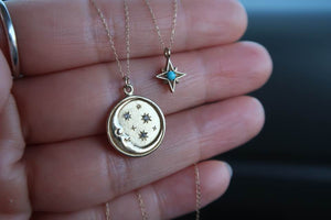Moon + Stars Necklace