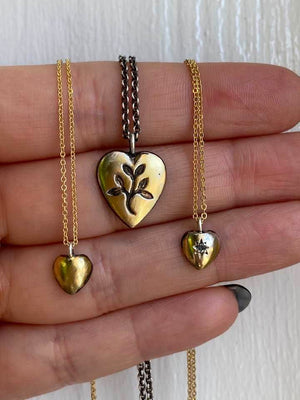 Engraved Golden Heart