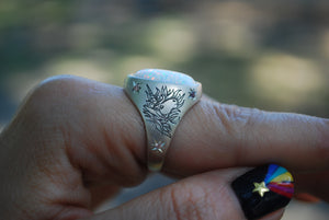 Hand-Engraved Unicorn Ring