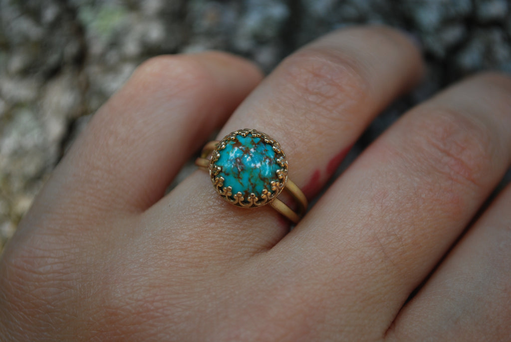 14k Gold + Turquoise