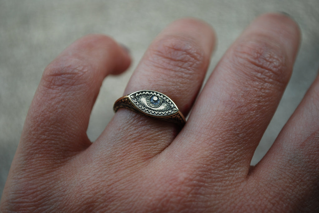 Golden Eye Signet Ring