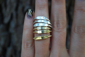 Gold Minimal Signet Rings