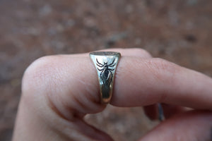 Black Widow Signet Ring