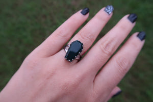 Bloodstone Coffin Ring