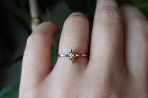 Rose Gold Diamond Starburst Ring