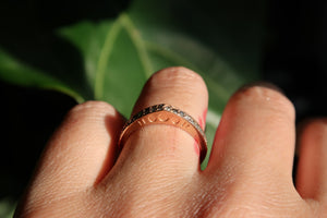 Rose Gold New Moon Diamond Band