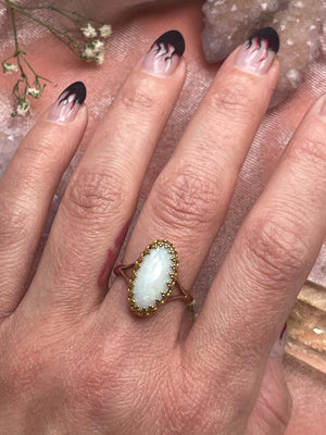 14k Golden Victorian Opal Ring