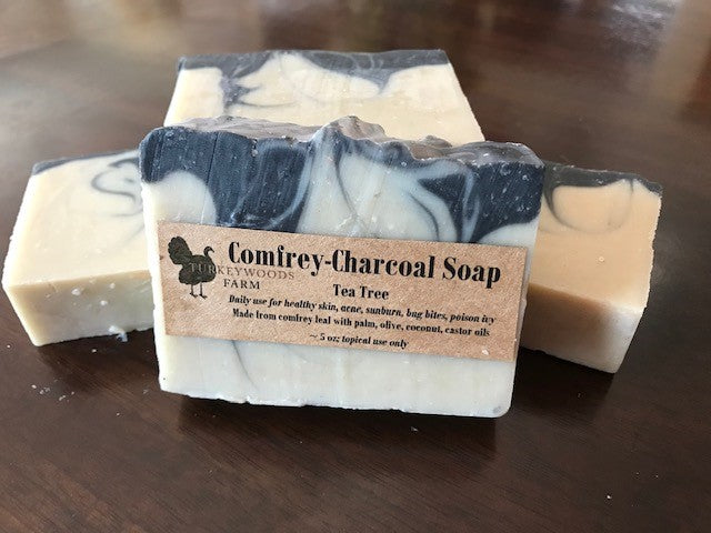 Soap, Comfrey with Charcoal and Tea Tree Oil