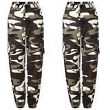 Fashionable Women's Military Cargo Trousers