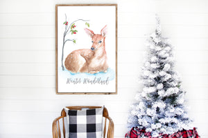 Christmas Printable - Winter Wall Art