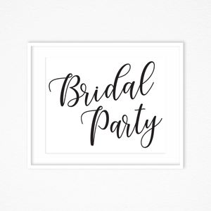 photo relating to Wedding Signs Printable known as Bridal Occasion Marriage Indicators, Printable Marriage ceremony Downloads