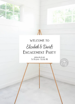 Engagement Party Editable Sign - 36 x 24 - Instant Download - TRY BEFORE You Buy