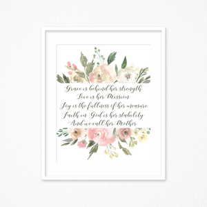 Grace is Behind Her Strength Printable