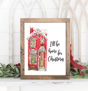 I'll Be Home for Christmas Printable