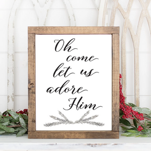 Oh Come Let Us Adore Him Christmas Printable