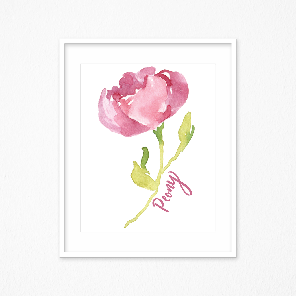 Watercolor Floral Print - Floral Watercolor Print