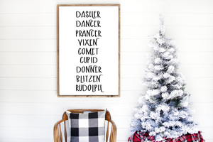 Reindeer Names Printable