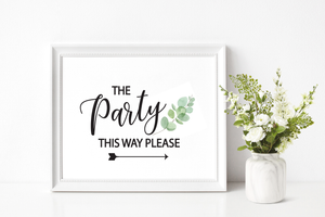 Wedding Printable Signs