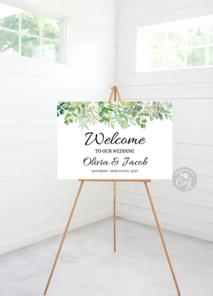 Welcome Wedding Editable Signs - 36 x 24 - Instant Download