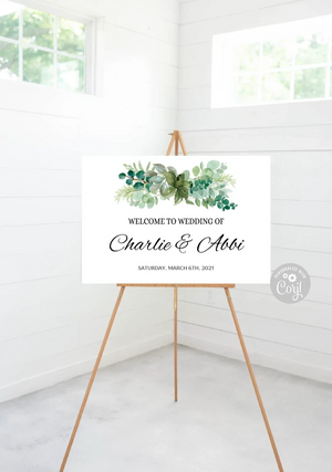 Wedding Welcome Sign Editable - 35 x 24 - TRY BEFORE you buy