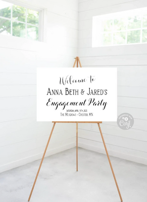Engagement Party Sign Editable - 36 x 24 - Instant Download - TRY BEFORE You Buy