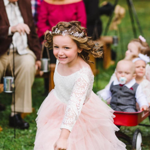 Flower Girls Tutu Tulle Lace Party Dress