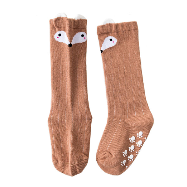 Sweet Baby Girls Fox Socks Knitted Stocking for Spring Autumn ( 3 Pairs Pack ) - everprincess