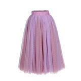 Flower Girls Straight Tulle Maxi Skirts Lavender Purple and Purplish Red Color