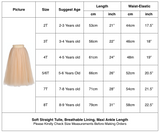 Flower Girls Straight Tulle Maxi Skirts Vintage Champagne Color