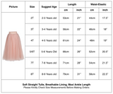 Flower Girls Straight Tulle Maxi Skirts Pink Color