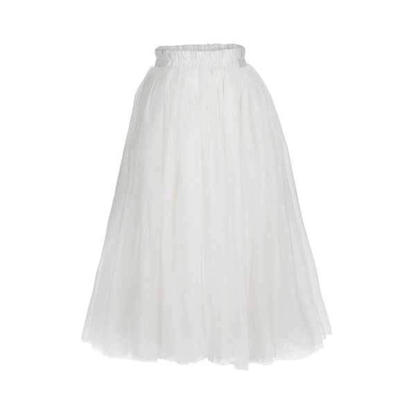 flower girls white color tutu straight skirts