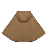 Kids Girls Hoodie Capes Poncho Car Seat Jacket Camel Color - everprincess