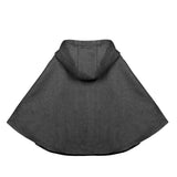 Kids Girls Gray Hoodie Capes Poncho Car Seat Jacket - everprincess
