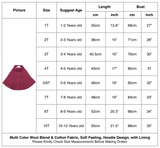 Kids Girls Hoodie Capes Poncho Car Seat Jacket Burgundy Color - everprincess