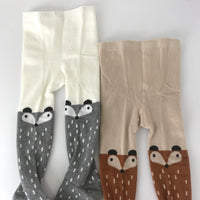 Sweet Kids Girls Fox Leggings Stockings Tights Brown and Gray Fox 2pcs Packed - everprincess