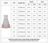 Girls Ruffles Maxi Dress Summer Cotton Dress with White Floral Print - everprincess