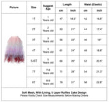Princess Girls Rainbow Tutu Maxi Skirts - everprincess