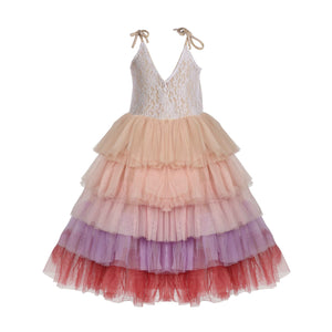 flower girls candy color tutu tulle lace party dress